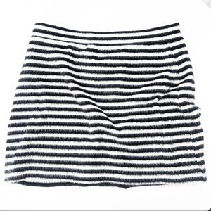 Anthropologie MAEVE Mod Striped Furry Knit Skirt